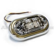 grote led trailer lights grote 45243 5 amber led clearance marker light clear lens chrome