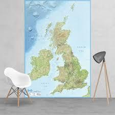 1wall map murals british isles map feature wall wallpaper mural 158cm x 232cm