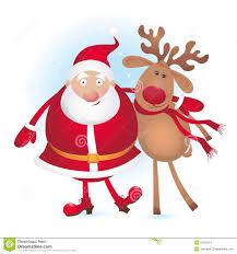 santa and reindeer stock photos image 22328073