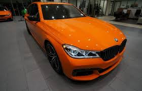 century bmw lankershim 2017 bmw 750i looks amazing in orange but comes with a
