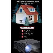 mr christmas digital decoration window projector kit for halloween