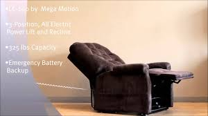 Electric Recliner Lift Chair Lc200 Lift Chair Power Electric Recliner By Mega Motion Youtube