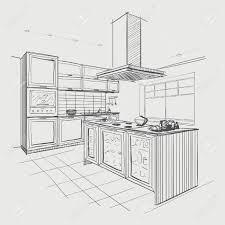 kitchen fresh sketch of kitchen room design ideas luxury and