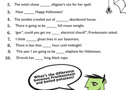 3rd grade halloween worksheets u0026 free printables education com