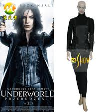 Selene Underworld Halloween Costume Custom Movie Underworld Selene Cosplay Costume Black