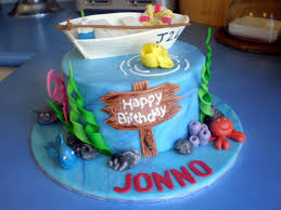 interior design amazing fishing themed cake decorations decor