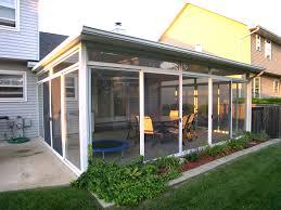Screened Porch Plans Eaton Rapids Custom Water Front Three Season Room Brilliant