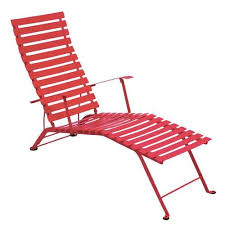 Pink Chaise Lounge Bistro Folding Chaise Lounge By Fermob Yliving