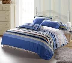 Blue Striped Comforter Set Striped Bedspreads And Comforters Home Decoration Ideas
