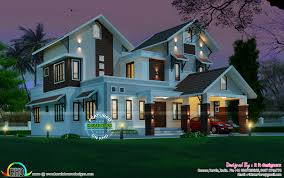2963 sq ft beautiful sloping roof mix house kerala home design