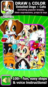learn draw popular dogs cats draw color easy animals