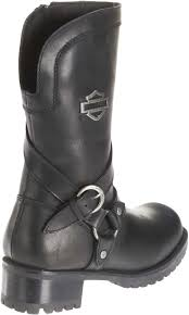 motorcycle half boots harley davidson women u0027s amber black leather 9 5 inch motorcycle
