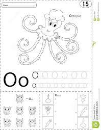 Free Alphabet Tracing Worksheets Cartoon Octopus Owl And Onion Alphabet Tracing Worksheet Writ