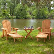 Patio Table And Chair Sets 3 Piece Patio Furniture Set With 2 Adirondack Chairs And Side