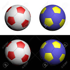 Blue Yellow And Black Flag White And Red Yellow And Blue Soccer Balls In National Polish