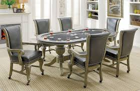 melina gray game table set furniture of america furniture cart