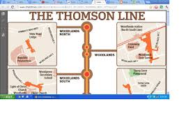 Singapore Subway Map by New Thomson Line Mrt Stations Map Upper Thomson Road Singapore