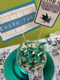 raylen jax u0027s first birthday with a san jose sharks hockey theme