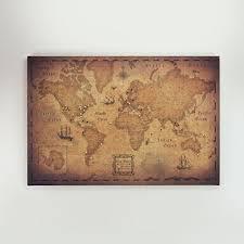 Pin Board Amazon Com World Travel Map Pin Board Golden Aged Handmade