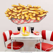 Wizard Of Oz Wall Stickers French Fries Diner Food Cut Out Wall Decal Kitchen Wall Art