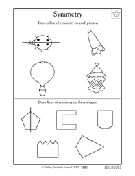 3rd grade 4th grade math worksheets lines of symmetry part 2