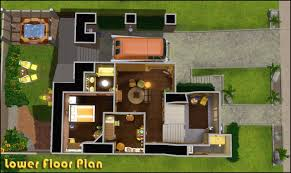 sims 4 modern mansion floor plans nice home zone