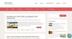 the funk blogger template download free premium wordpress themes