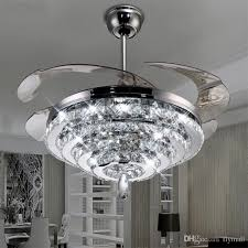 Chandelier Light For Ceiling Fan Led Crystal Chandelier Fan Lights Invisible With Regard To