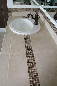 bathroom tile countertop ideas tiled bath counter top with marble accent tile tile