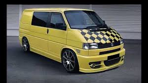 new volkswagen bus yellow vw transporter caravelle t4 tuning body kit youtube