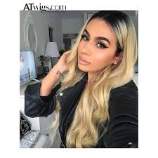blonde hair with dark roots 1b 613 full lace wig ombre blonde lace wig dark roots human hair