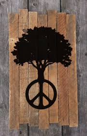 peace tree painting peace sign peace tree hippie hippy