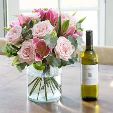 flowers wine flowers wine gifts delivered blossoming gifts