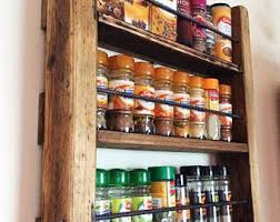 Spice Rack Including Spices Rustic Spice Rack Etsy