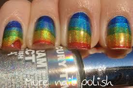holo rainbows using temporary tattoo paper more nail polish