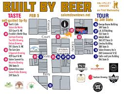 Portland Brewery Map by Built By Beer Mid Valley Makers
