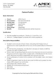 Sample Pastoral Resume by News U0026 Events Pastor Archives News U0026 Events