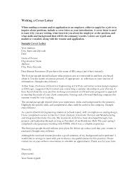 sample cover letter for electrical engineer internship cover