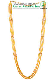 gold necklace patterns images 22k gold 5 lines chain chandraharam 235 gn429 in 31 000 grams jpg