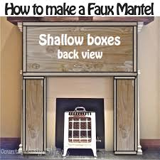 How To Make Fake Fireplace by How To Make A Faux Mantel Country Design Style