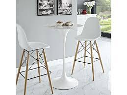 white pub table set 3pcs lippa 28 artificial marble white bar table set shop for