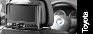 toyota highlander dvd headrest toyota replacement headrest monitors replace your factory