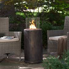 Gas Patio Heater Cover by Red Ember Kona Gas Fire Column With Free Cover A Red Ember Kona