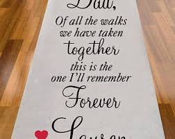 personalized aisle runner aisle runner etsy