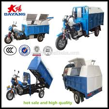 electric truck for sale high quality automation small dumper garbage truck tricycle for