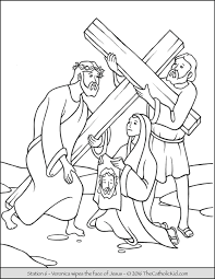 stations of the cross coloring pages 6 veronica wipes the face