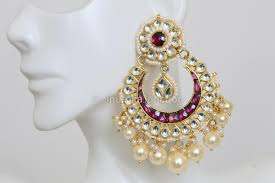 pachi earrings kundan chandbali earrings kundan earrings pachi kundan