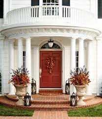 Pictures Of Front Porches Decorated For Fall - front door decor ideas for fall house design ideas
