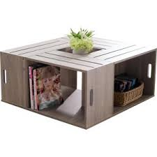 modern u0026 contemporary box frame coffee table allmodern
