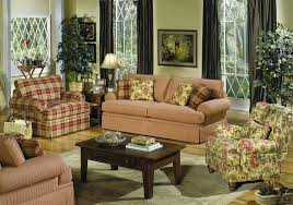 Broyhill Living Room Furniture Broyhill Plaid Country Style Couches For Sale Living